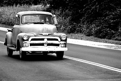 Driving Chevy Peace (raisinsawdust - (aka: withaneyephotography)) Tags: bw classic truck nikon driving peace antique tennessee pickup chevy 1950s groovy brilliant rolling throwback blackdiamond stillworking d80 abigfave nikond80 platinumphoto aplusphoto theperfectphotographer blackdiamondpremier