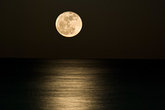 Moonshine (Camilo Bonilla) Tags: sea moon beach night mar nikon waves miami bigma tripod sigma playa double luna wireless astronomy remote exposures tripode slik exposiciones 50500mm mll3 moonwatch d40x pro700dx sigma50th