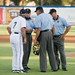 Steve Yeager arguing call with umpire