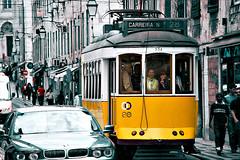 Tram No. 28, Lisbon (hk_traveller) Tags: life travel 20d portugal smile canon photo interestingness europe lisboa lisbon canon20d tourist explore turbo 95 172 douban top500   interestingness95 interestingness172 i500 turbophoto