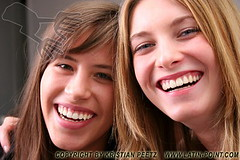 Young girls smiling (Latin-Point) Tags: friends two people woman news cute girl beautiful beauty smile face smiling female youth mouth hair happy person women european friendship emotion teeth joy young happiness excited human teenager surprised casual emotional gesture joyful excitement caucasian