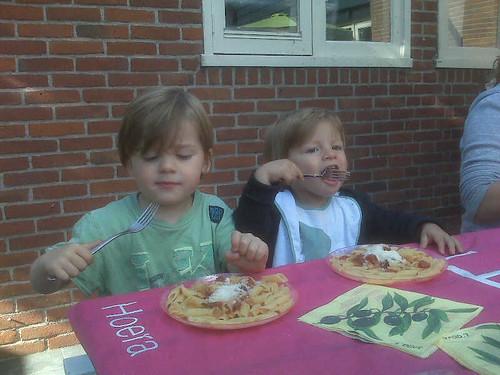 ...Pasta eet je met een vork