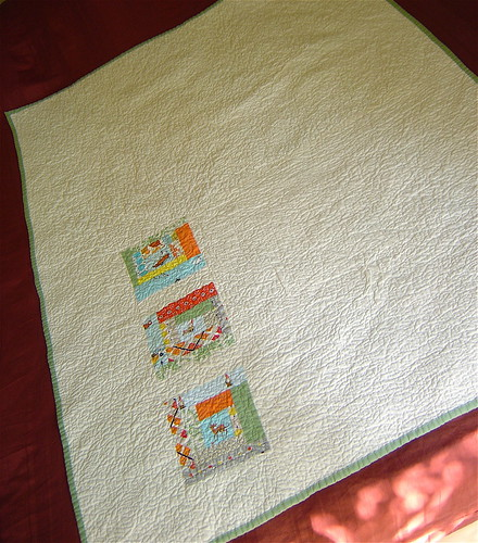 Gender Neutral Baby Quilt Back
