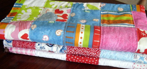 quilts ready for binding