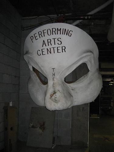 Performing Arts Center mask with flash