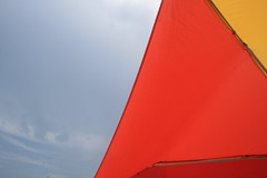 (heffy88) Tags: red sky colors umbrella miami southbeach
