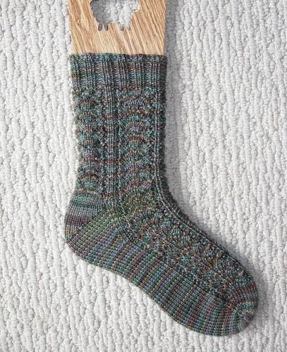 Fern Leaf Lace Sock #1