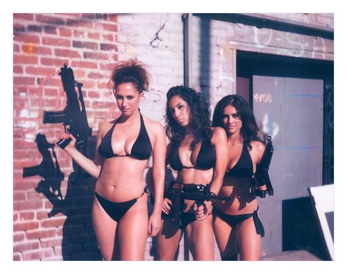 girls with guns calendar. Bikini Girls with Machine Guns