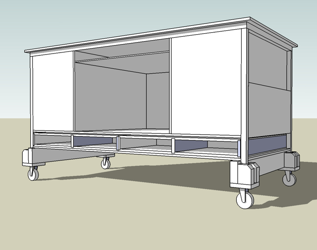 SketchUp design for modifications to desk