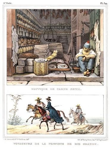 012-Tienda de carne seca; Viajeros de la provincia de Rio Grande