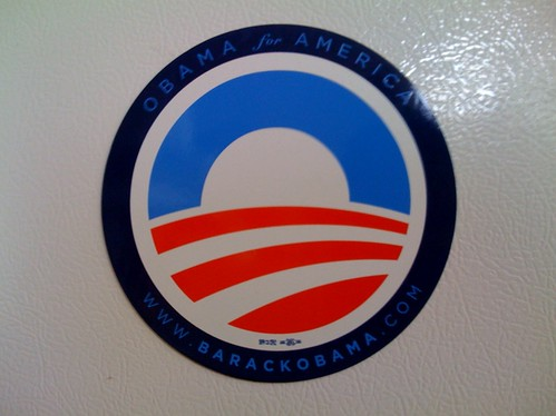 Obama for America refrigerator magnet, made in the USA