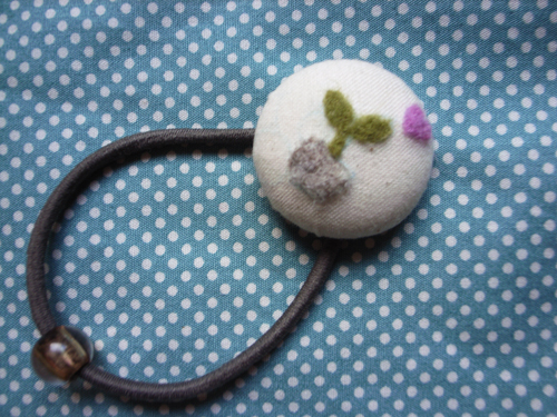 羊毛氈小玩意:包扣髮飾