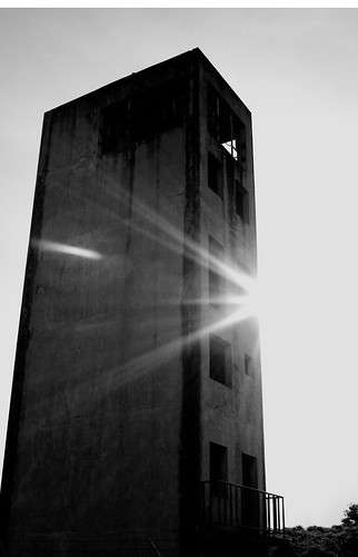 Towering Refuge in Black and White