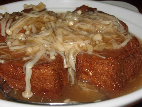 tofu with enoki