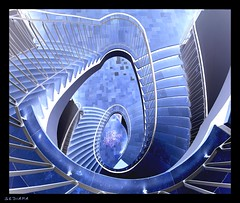 (sediama (break)) Tags: blue stairs germany treppe negative staircase inverted staircases kiel 1909 treppen kunsthalle treppenhaus justimagine mywinners sediama bimgp6184 bysediamaallrightsreserved