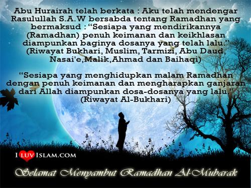 Bulan Ramadan tiba lagi. Selamat menjalani ibadah puasa semua!