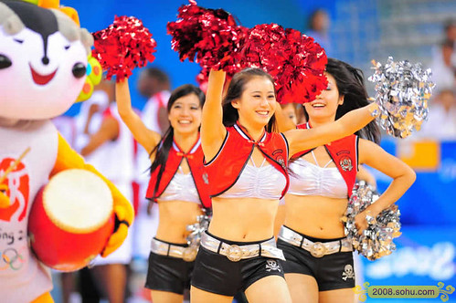 Sexy Cheerleaders in Beijing Olympics 2008