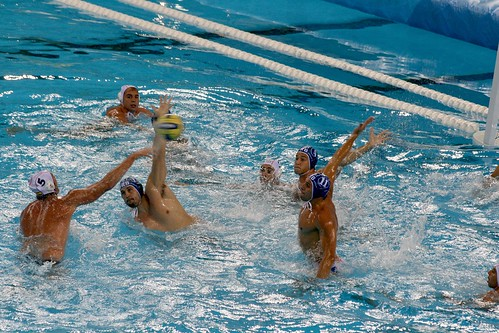 Water polo action (by niklausberger)