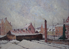 Neige  Bruges (esquisse) 1919 (Chamant) Tags: life mer snow france art nature painting belgium belgique aquarelle fineart paintings brugge ruin peinture canvas ruine morte painter oil impressionism sur bruges neige 1910 ww1 greatwar guerre georges impressionist emile oilpainting ypres flanders naturemorte peintre cagnes shelled flandre impressionnisme postimpressionism impressionniste grandeguerre peinturelhuile jemappes peintrebelge bombard postimpressionniste lebacq georgesemilelebacq georgesmile belgianpainter georgeslebacq