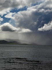 Storm (Stellina.m ♪♪ (...illness)) Tags: blue sky seascape water clouds skyscape rays lightshadow