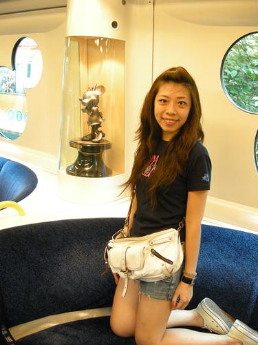 你拍攝的 往迪士尼列車。