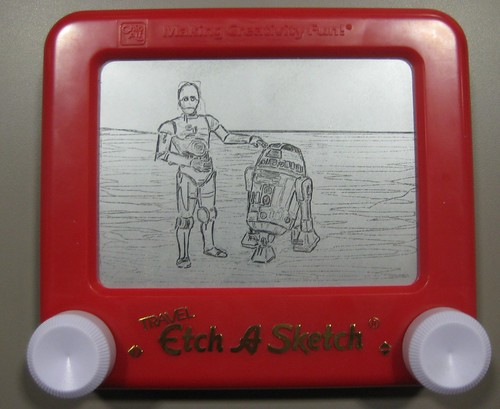 Super Cool Etch-a-Sketch Drawing