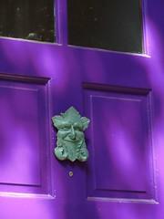 Face on the Door (adamsjp2010) Tags: door city urban philadelphia purple pennsylvania rittenhouse gargoyle ornament philly streetscape pinest phillyist
