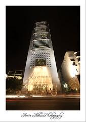 MCB Tower (aabbas ~ [Brand New Start]) Tags: longexposure pakistan light building tower beautiful architecture night canon eos lights ali amir pakistani dada dslr mcb karachi abbas sindh 116 1022 tallest 14august mcbtower nayyar xti 400d mooman canon400d aabbas nayyaralidada