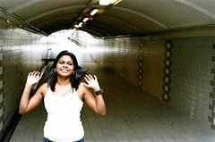 Ruby of the Tunnel (Premshree Pillai) Tags: friends people film singapore kodak bodylanguage kodakportra400vc ruby peeps f5 happyhappyjoyjoy nikonf5 singaporesep08