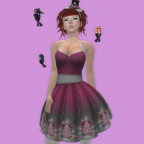 -katat0nik- (dk pink) Cakery Dress