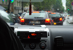 4.80  ([  //  QTR) Tags: street paris france cars rain lights bokeh taxi notedited summer08