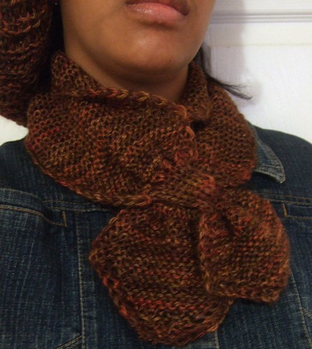 Garter Stitch Loop Scarf (3)