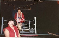 Mom & Rocky Balboa, 1985 (MsBlueSky) Tags: family film movie rocky 80s 1980s 1985 relative mymom waxfigure rockybalboa rockyiv reneemendoza