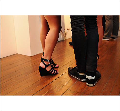 Street Fashion Sydney, Medium Rare Gallery, Shoes Strappy Wedge & Runners
