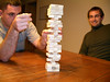 Matt and Logan playing Jenga 2