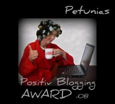 Petunias positiv blogging award