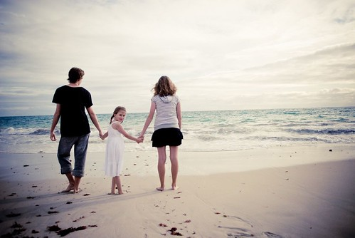 The Scarpa Children at the beach