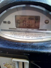FAIL displayed on parking meter