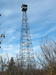 Fire tower on top of Ishpatina Ridge