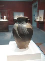 Jar with Two Lugs (unforth) Tags: art museum asian washingtondc chinese dishes artmuseum jars stoneware decorativeart 9thcentury freergalleryofart lushanware antiqueporcelainandceramics