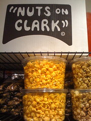 "Popcorn selections at ""Nuts on Clark"""