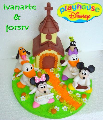 adorno play house disney especial bautismo -  www.ivanarte.es.tl por ti.