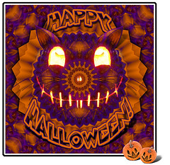 Happy Halloween Cat (Gravityx9) Tags: abstract halloween photoshop chop kk psfo digidi 102908 kaleidospheres 103108