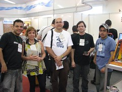 Ronan, OHeremita, Esposa do OHeremita e Equipe Robotica Livre (Presleyson Lima) Tags: do 2008 foz horizonte iguacu belo caravana iguau fozdoiguau fozdoiguacu latinoware caravanabelohorizonte latinoware2008 caravanabh