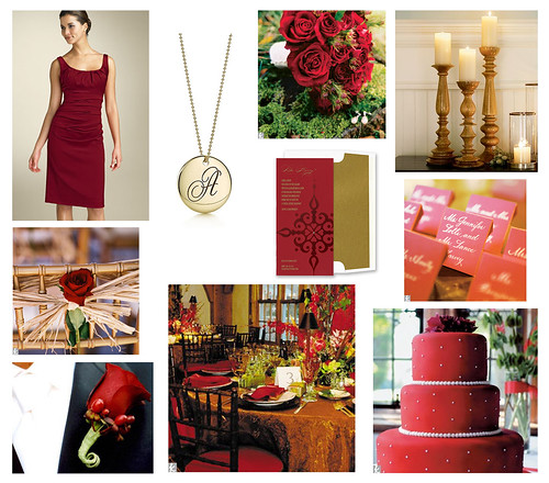 Wedding Wednesday: Crimson & Gold