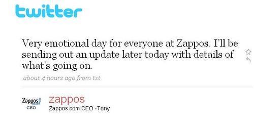 Zappos Tweet