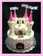 Princess Castle Cake - for Lisette (Glass Slipper Gourmet) Tags: pink cakes princess fairy area castlecake fantasty 6thbirthdaycake glassslippergourmetbay