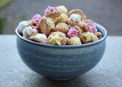 Iced Gems (.blessed.) Tags: birthday pink blue white childhood yellow candy sweet magic memories bowl sweets iced cracker magical gems
