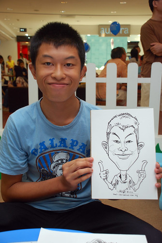 caricature live sketching for West Coast Plaza day 2 - 7
