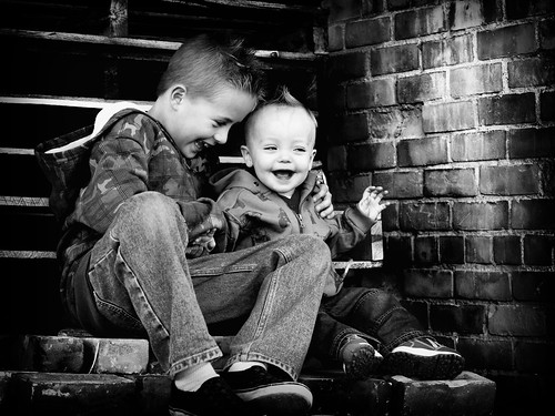 Brady and Bridger on Bricks2 BW